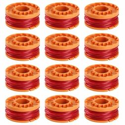 12-Pack /6-PACK WORX WA0010 Replacement Spool Line For Grass