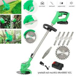 21V 3000mAh Li-Ion Cordless Powerful Electric Grass Weeds La