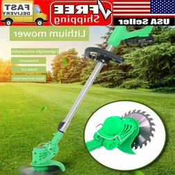 21V Li-ion Powerful Electric Grass Weed Lawn Trimmer Edger W
