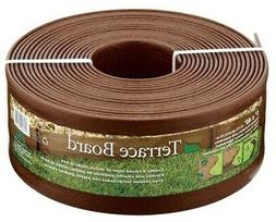 Brown Plastic Garden Landscape Lawn Edging Front Yard/Backya