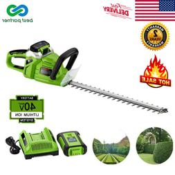 """Electric 20"""" 20V Cordless String Trimmer Lawn Edger Grass We"""