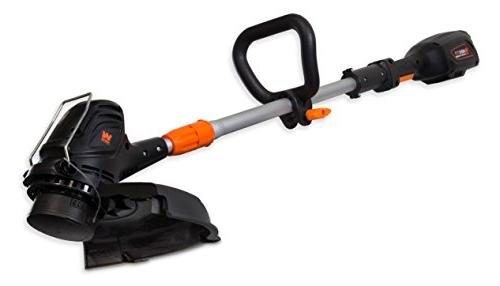 WEN 40413 40V Lithium-Ion 14-Inch String Trimmer and Edger with 2Ah Charger
