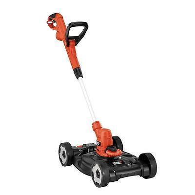"""BlackDecker 12"""" Electric Small Lawn Mower String Trimmer Gra"""