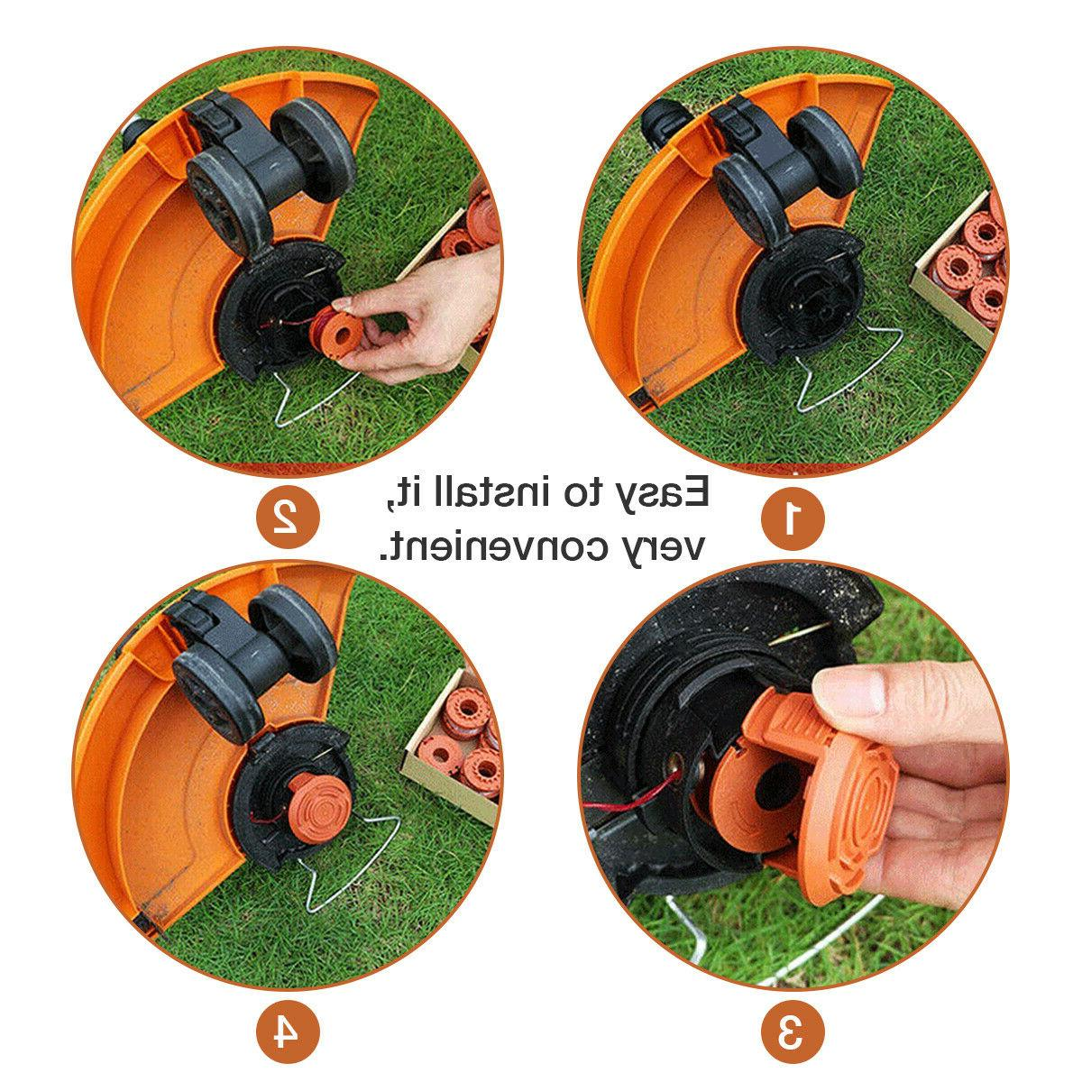 WA0010 Grass For Worx Trimmer Spools Weed Edger 8/12Pc