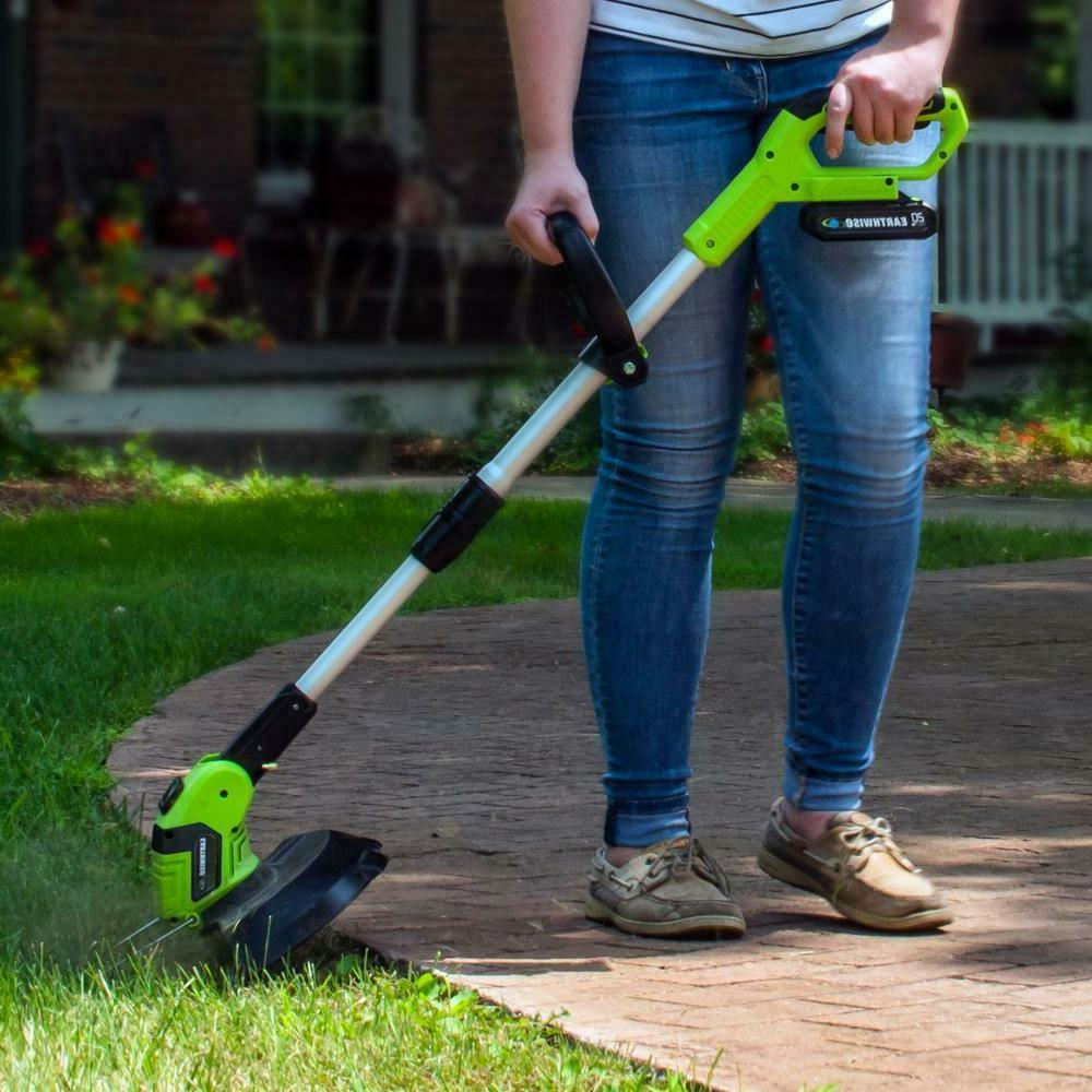 Weed Eater Cordless Trimmer With 2 Battery and Charger 20-Volt 10