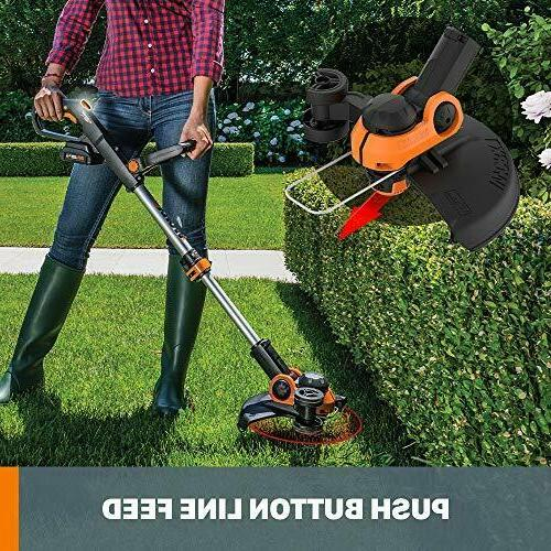 """WORX WG163.9 Cordless Grass Trimmer/Edger Feed, 12"""" ONLY"""