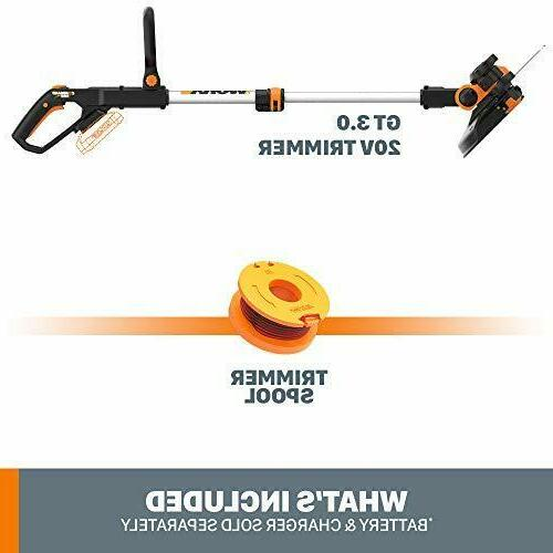 """WORX 20V Cordless Grass Command Feed, 12"""" TOOL ONLY"""