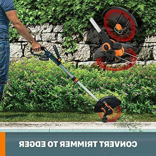 """WORX WG163.9 Cordless Grass Trimmer/Edger Command Feed, 12"""""""