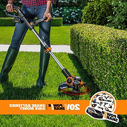 Worx GT 20V Cordless Grass with Command 2 Included