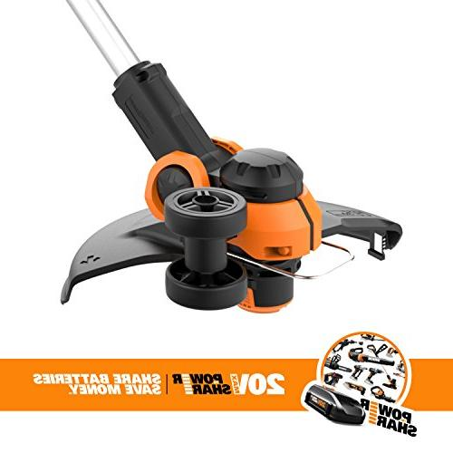 Worx 20V Cordless with Feed, 2 Batteries Included