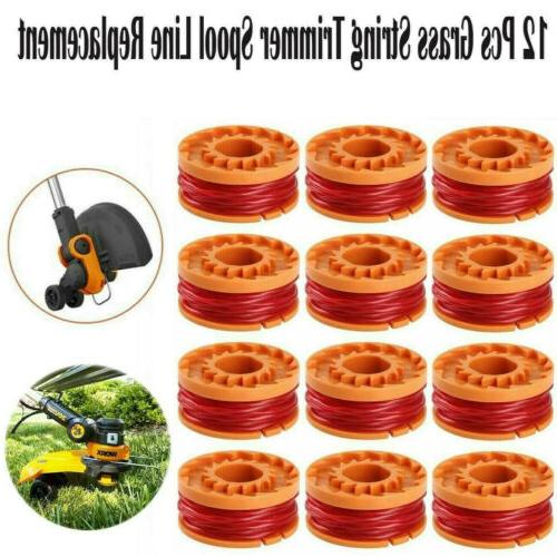 12-Pack 6-PACK WORX WA0010 Replacement Spool Line For Grass