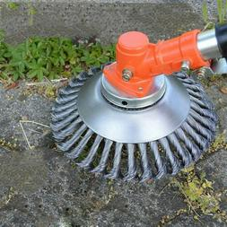Pavement surface grass trimmer weed blade wired string cordl